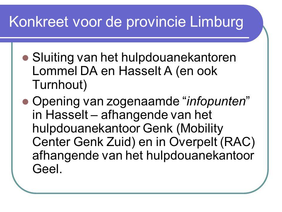 Konkreet voor de provincie Limburg