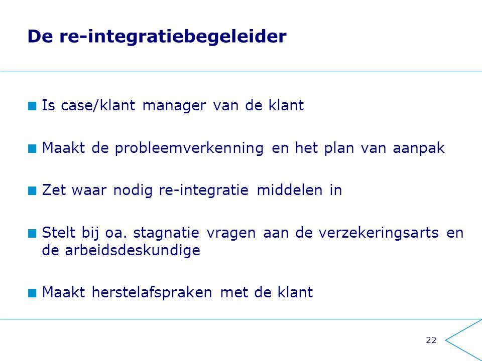 De re-integratiebegeleider