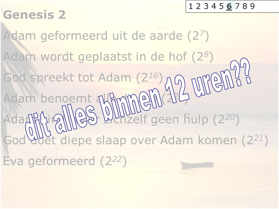 dit alles binnen 12 uren Genesis 2 Adam geformeerd uit de aarde (27)