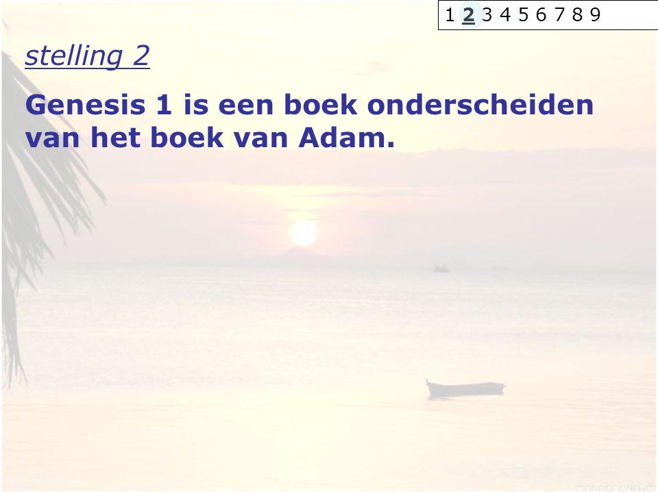 Genesis 1 is een boek onderscheiden van het boek van Adam.