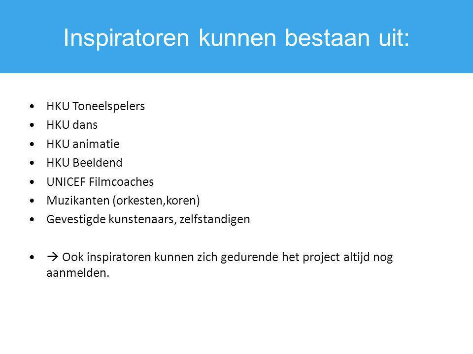Inspiratoren kunnen bestaan uit: