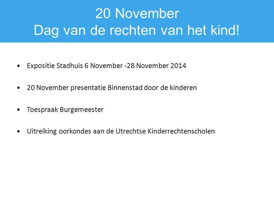 20 November Dag van de rechten van het kind!