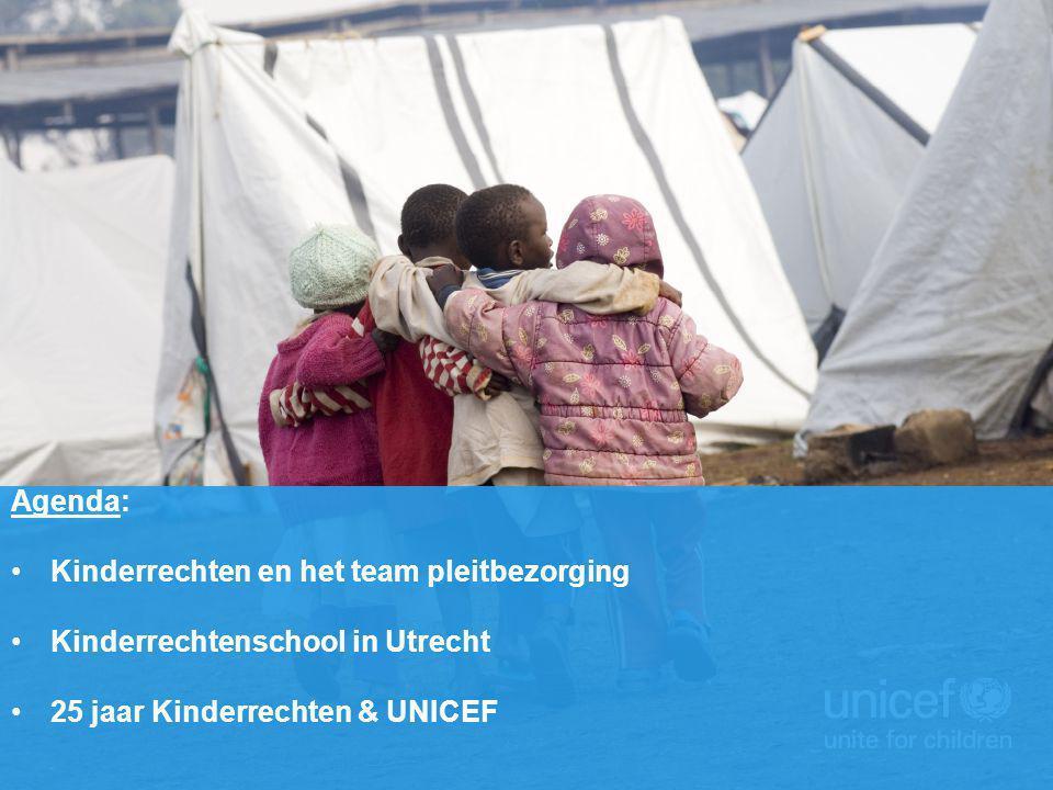 Agenda: Kinderrechten en het team pleitbezorging. Kinderrechtenschool in Utrecht.
