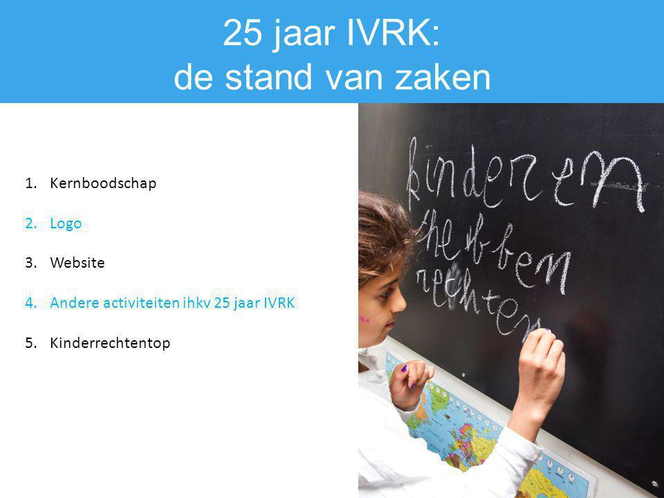 25 jaar IVRK: de stand van zaken Kernboodschap Logo Website