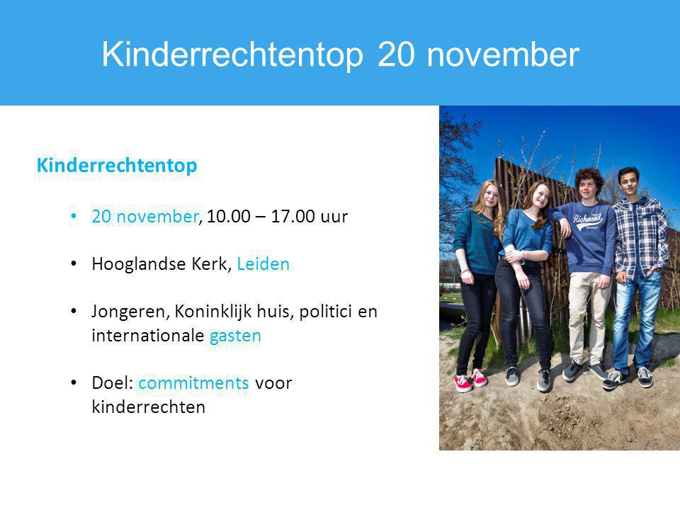 Kinderrechtentop 20 november