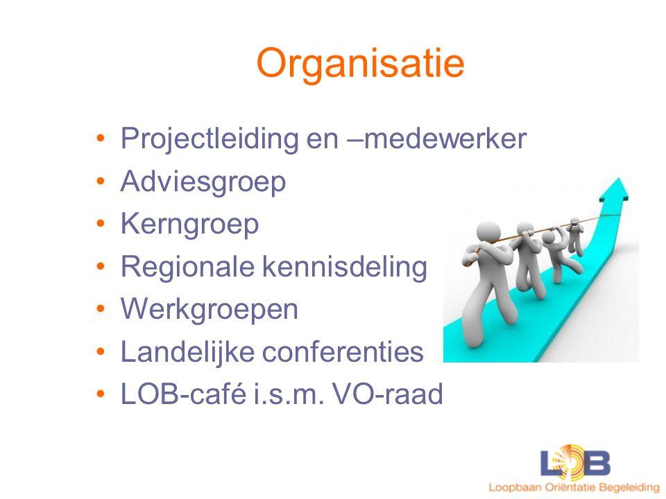 Organisatie Projectleiding en –medewerker Adviesgroep Kerngroep