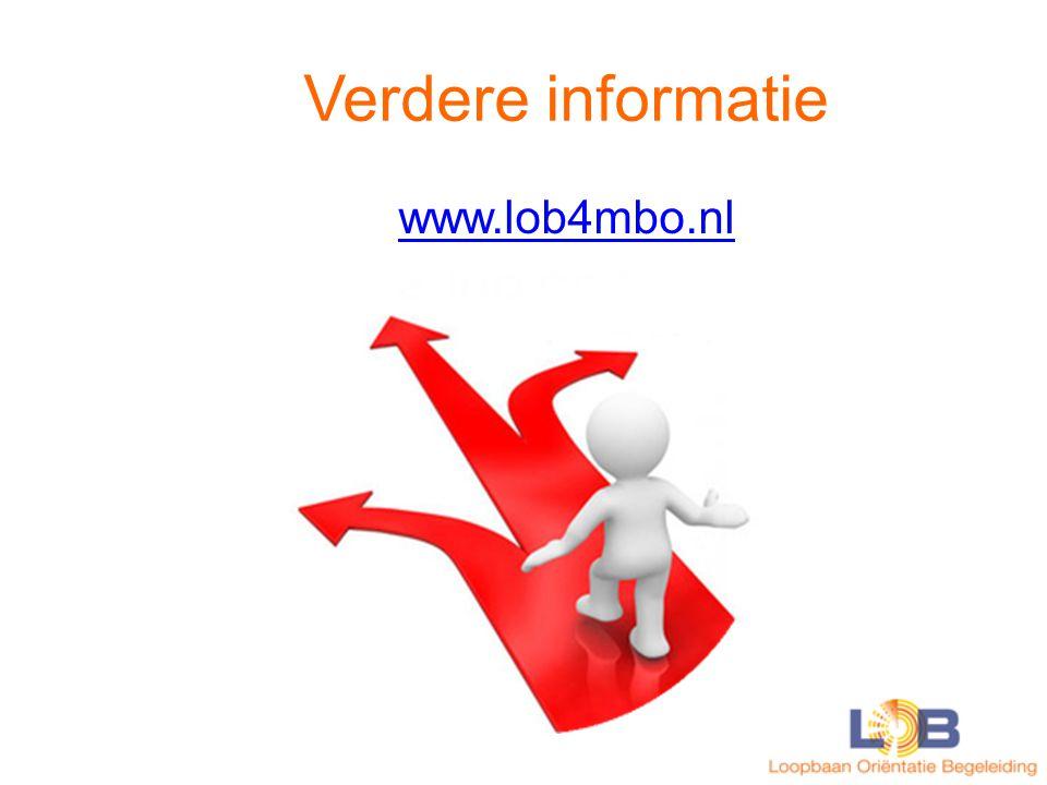 Verdere informatie www.lob4mbo.nl