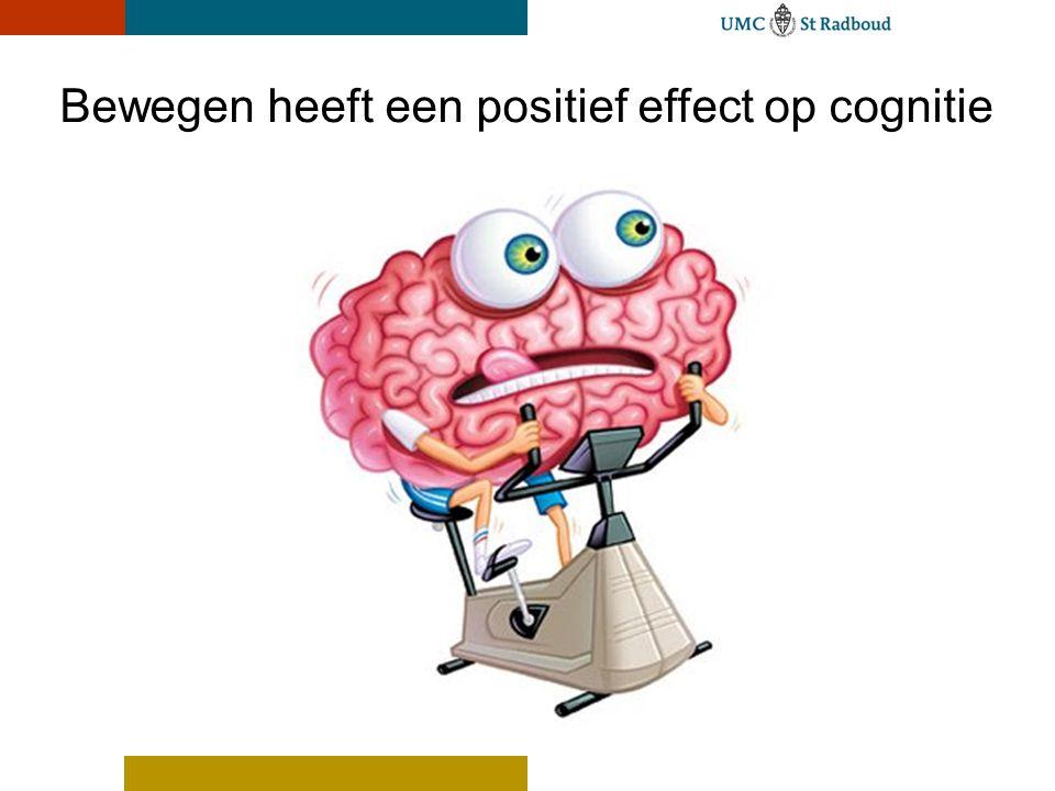 Bewegen heeft een positief effect op cognitie