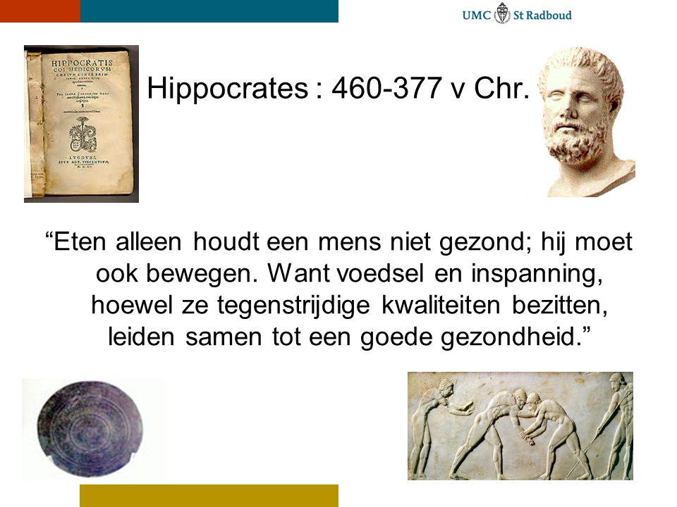 Hippocrates : 460-377 v Chr.
