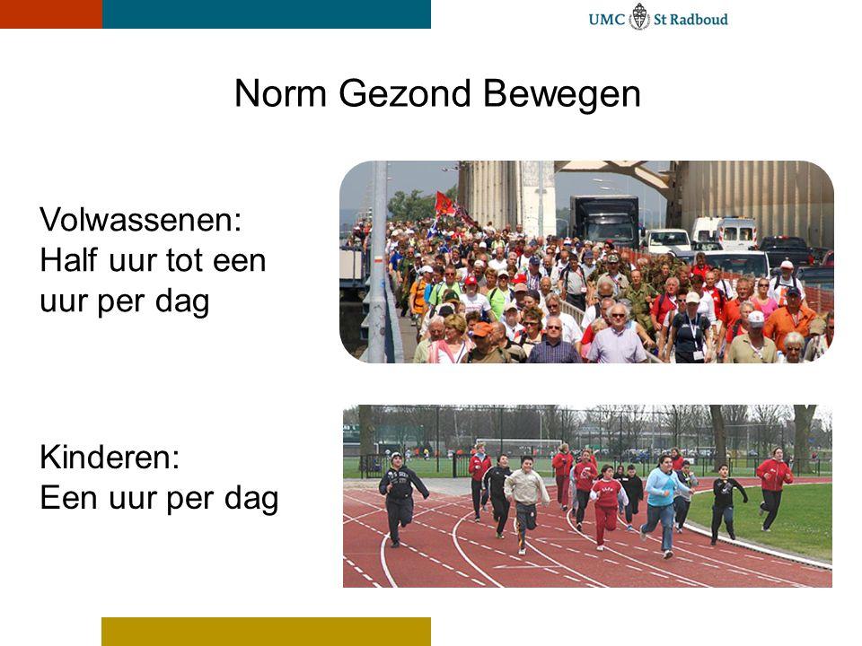 Norm Gezond Bewegen Volwassenen: Half uur tot een uur per dag