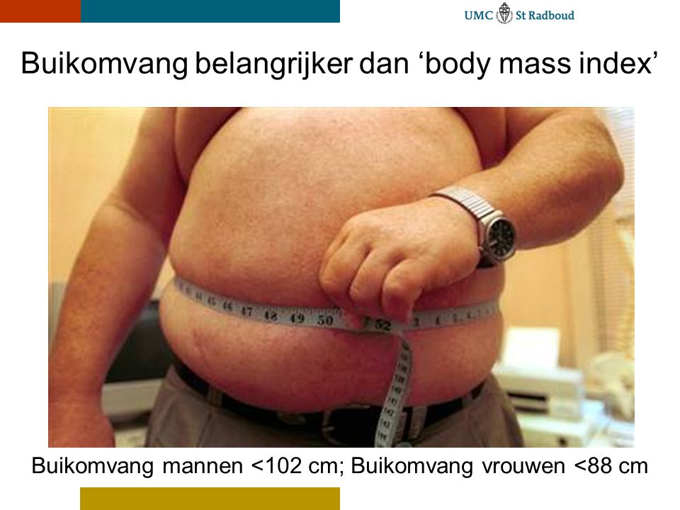Buikomvang belangrijker dan 'body mass index'