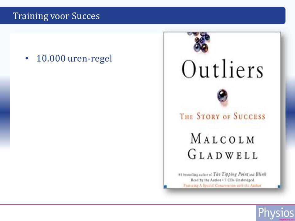 Training voor Succes 10.000 uren-regel