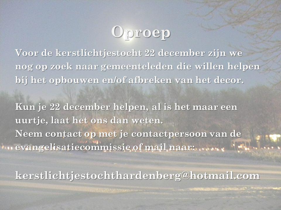 Oproep kerstlichtjestochthardenberg@hotmail.com