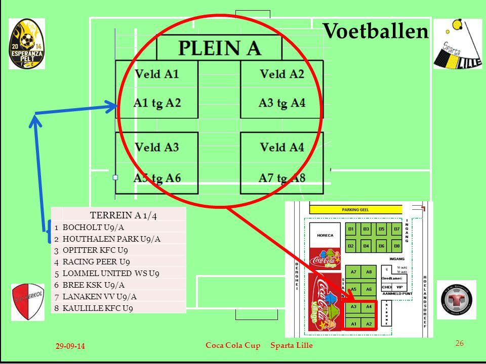 Voetballen TERREIN A 1/4 1 BOCHOLT U9/A 2 HOUTHALEN PARK U9/A 3