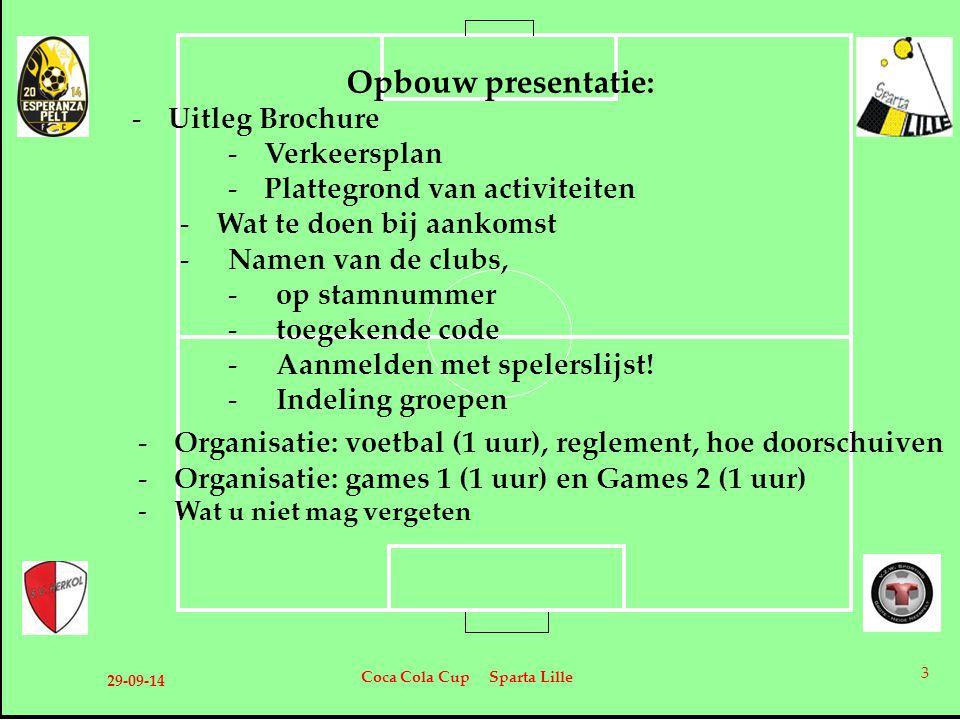 Opbouw presentatie: Uitleg Brochure Verkeersplan