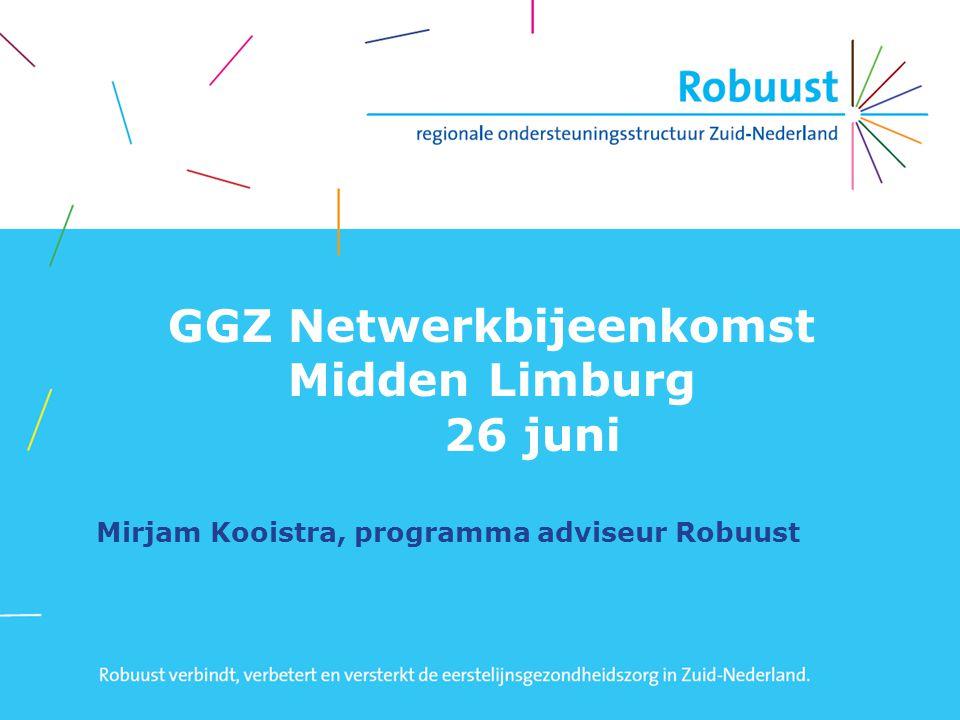 GGZ Netwerkbijeenkomst Midden Limburg 26 juni