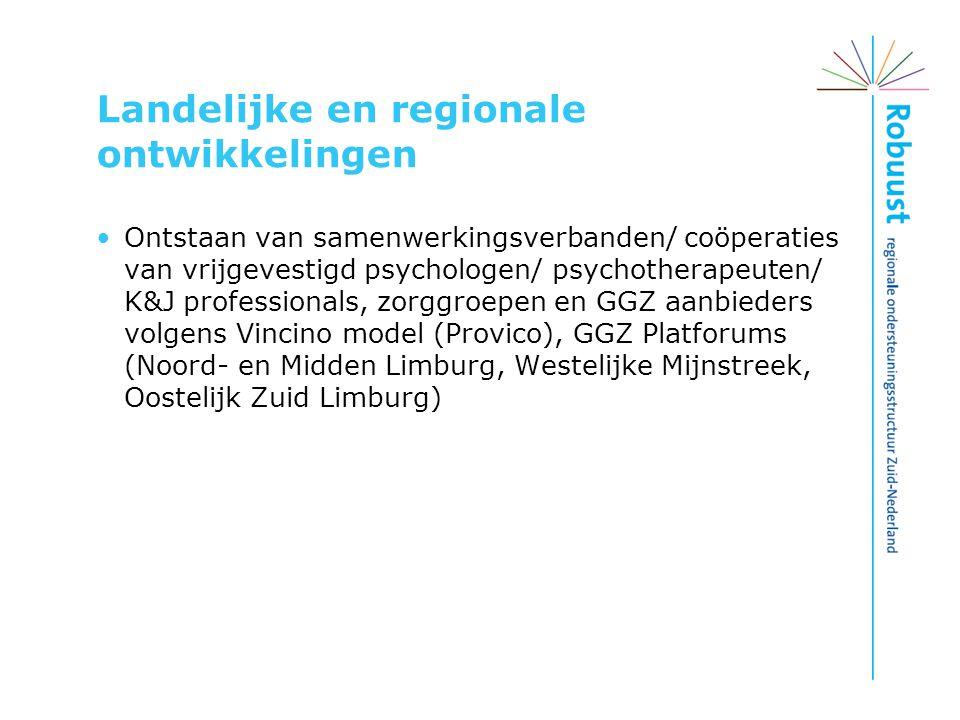 Landelijke en regionale ontwikkelingen