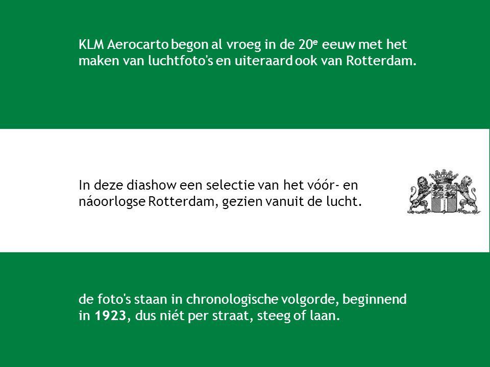 KLM Aerocarto begon al vroeg in de 20e eeuw met het