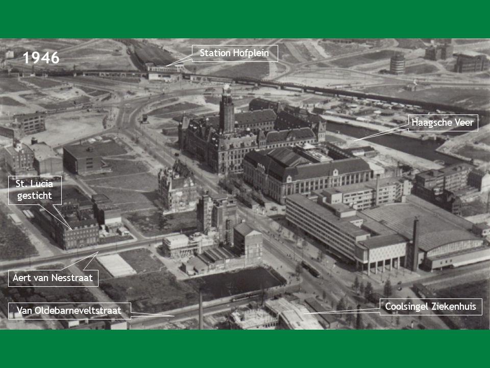 1946 Station Hofplein Haagsche Veer St. Lucia gesticht
