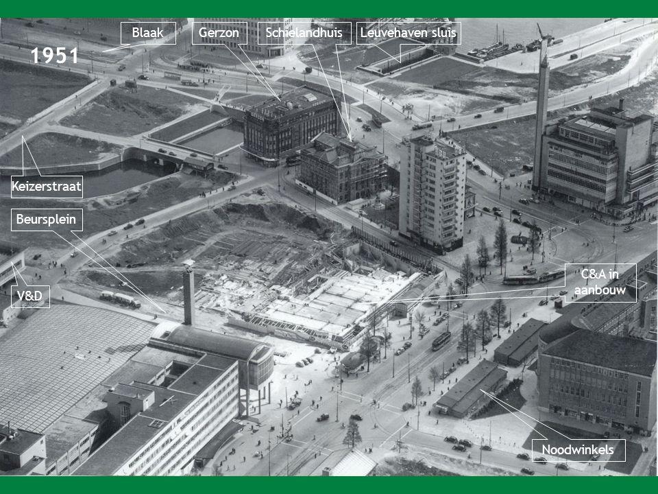 1951 Blaak Gerzon Schielandhuis Leuvehaven sluis Keizerstraat