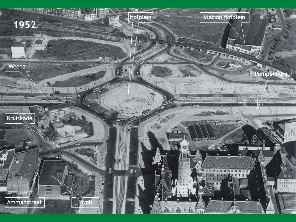 1952 Hofplein Station Hofplein Weena Pompenburg Kruiskade Ammanstraat