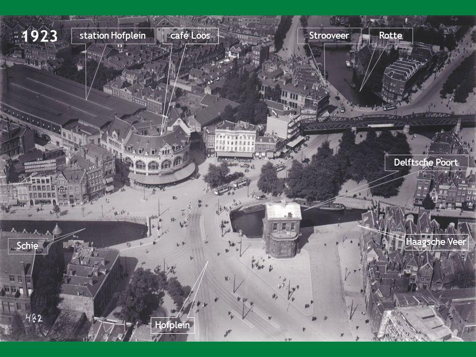 1923 station Hofplein café Loos Strooveer Rotte Delftsche Poort