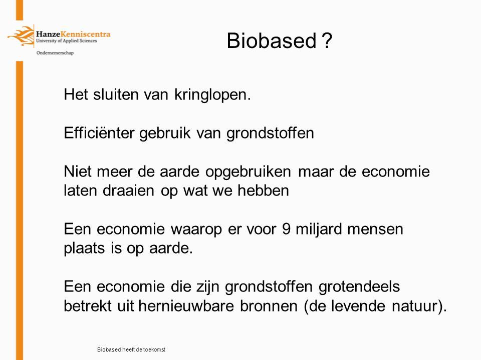 De toekomst is bio-based Wat is de rol van netwerken