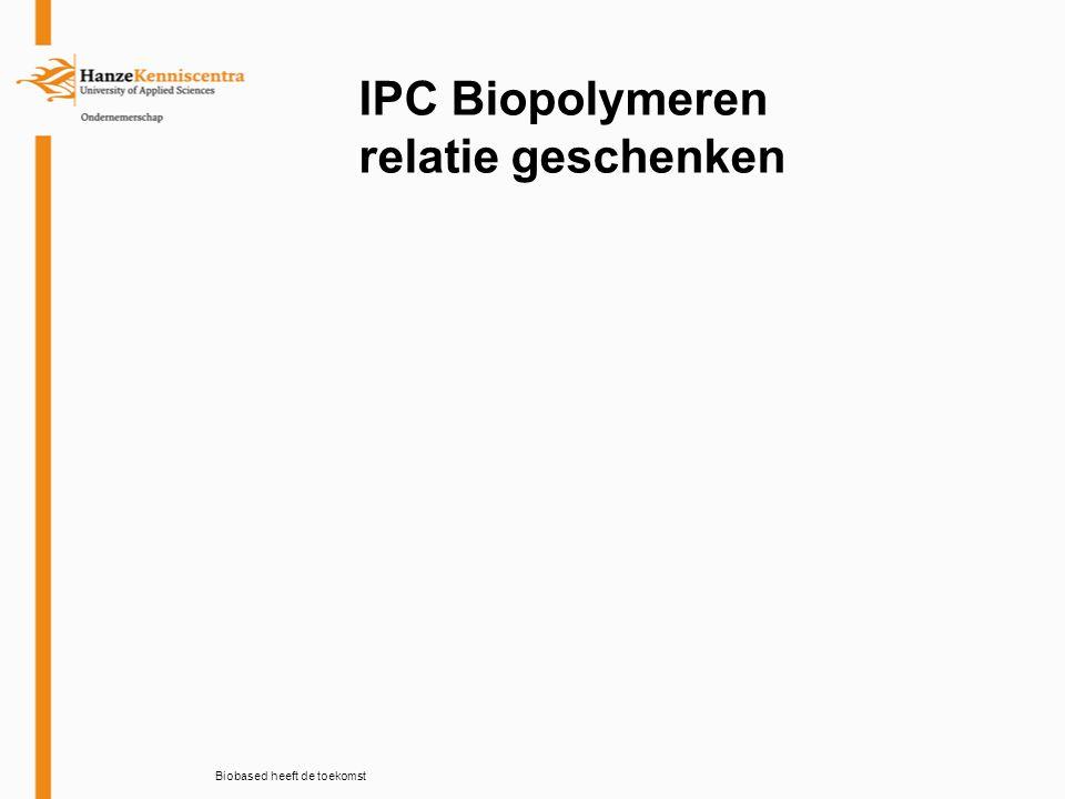 IPC Biopolymeren School meubilair Biobased heeft de toekomst