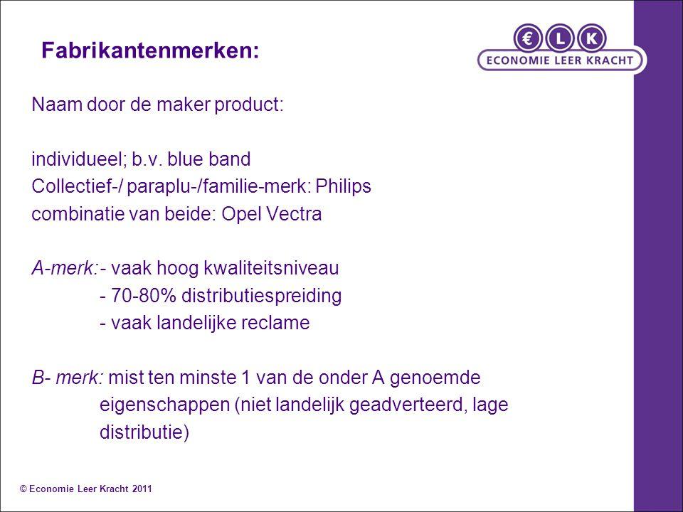 Fabrikantenmerken: Naam door de maker product: