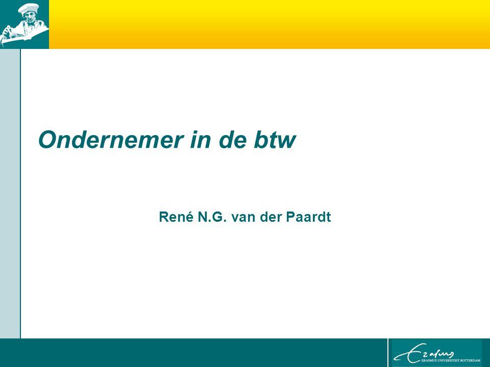 Ondernemer in de btw René N.G. van der Paardt