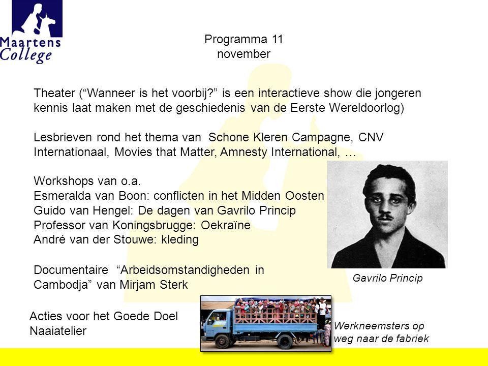 Professor van Koningsbrugge: Oekraïne André van der Stouwe: kleding
