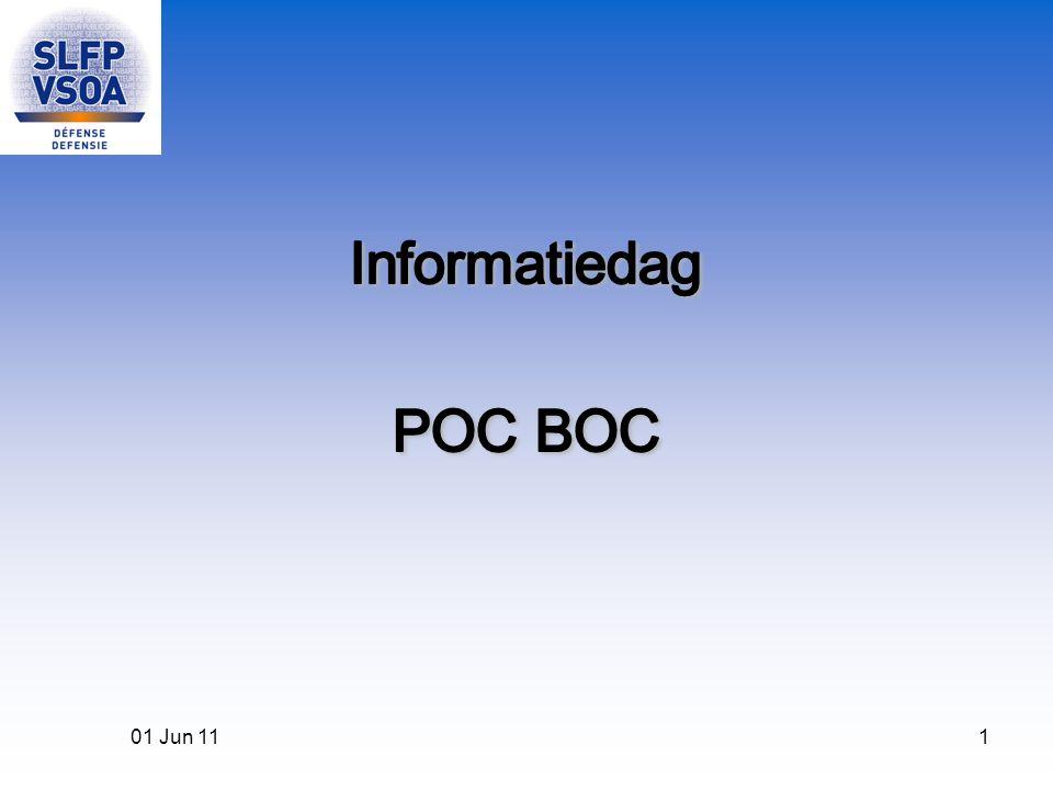 Informatiedag POC BOC 01 Jun 11