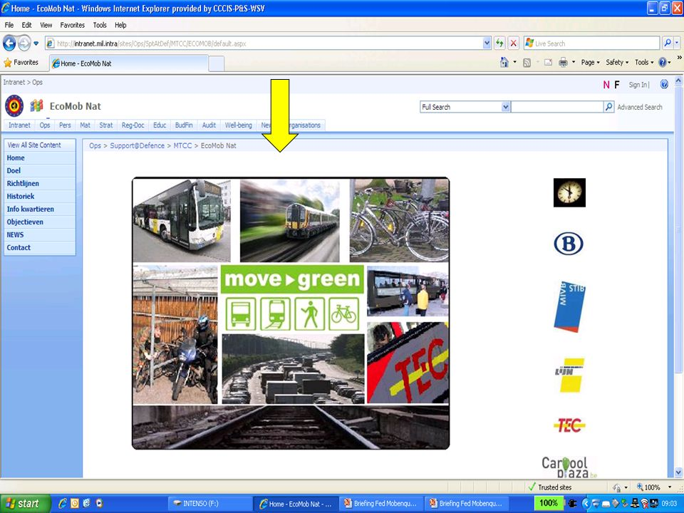 Screen-shot homepage Ecomob