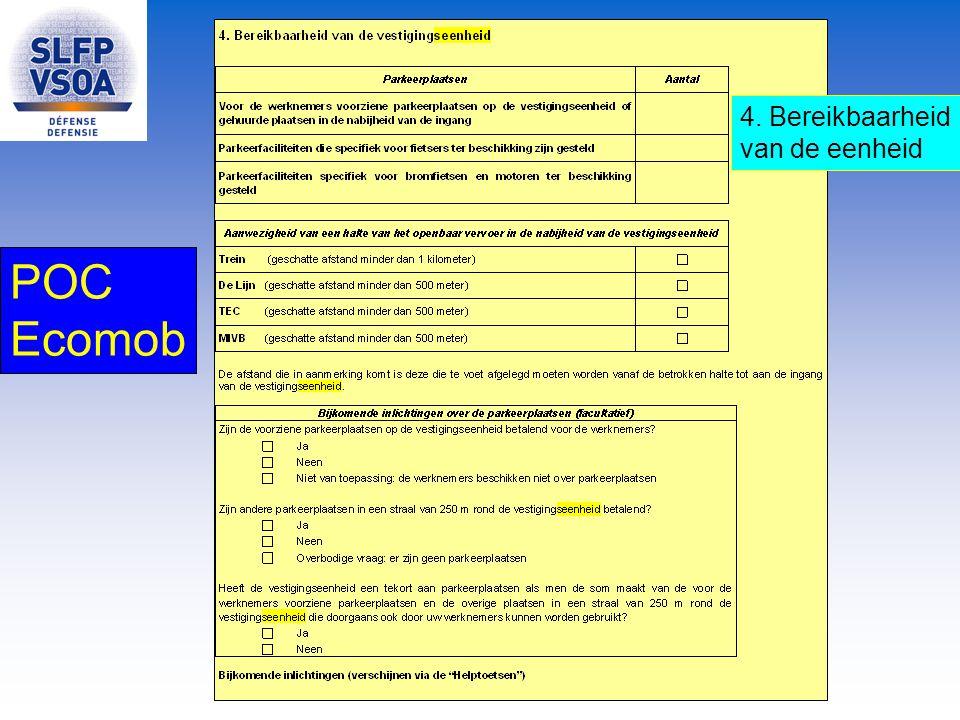 POC Ecomob 4. Bereikbaarheid van de eenheid