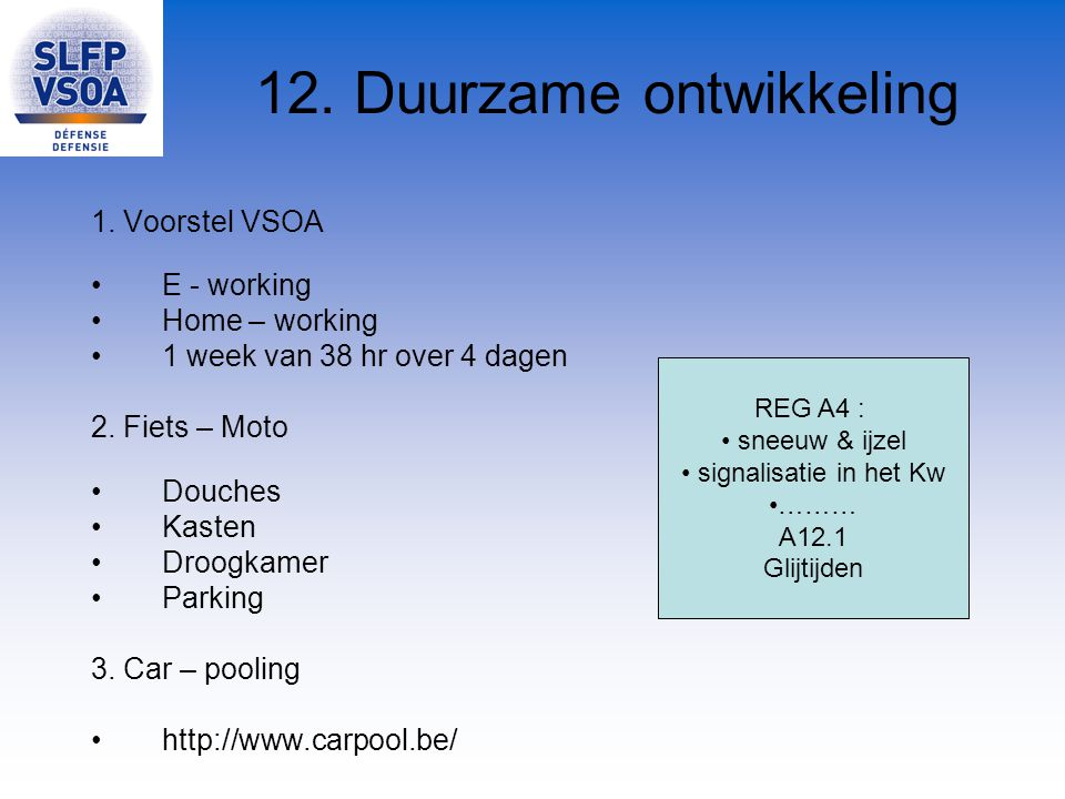 12. Duurzame ontwikkeling
