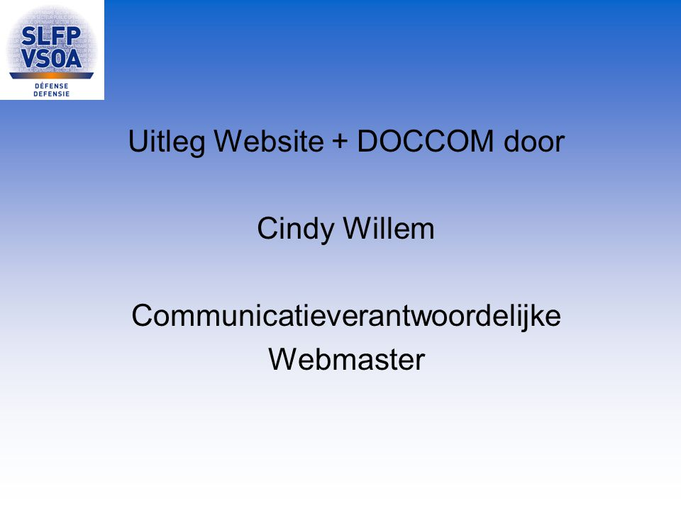 Uitleg Website + DOCCOM door Cindy Willem