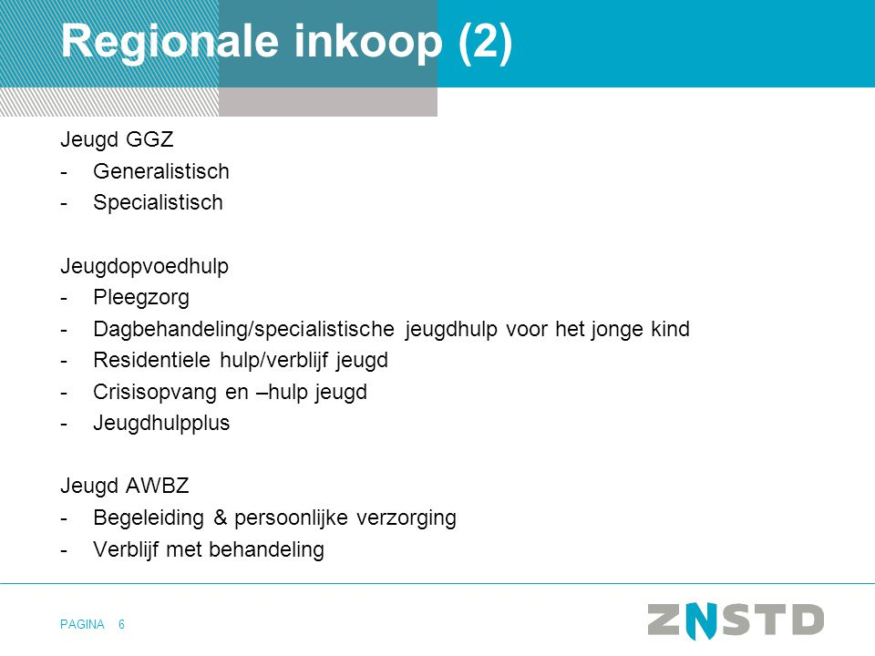 Regionale inkoop (2) Jeugd GGZ Generalistisch Specialistisch