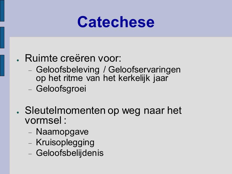 Catechese Ruimte creëren voor: