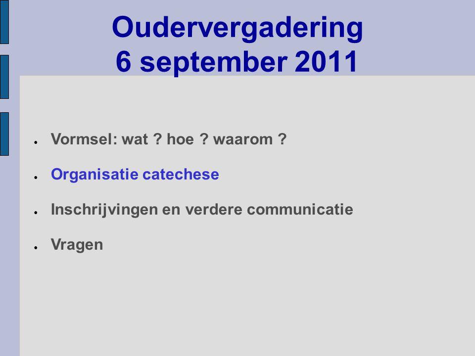 Oudervergadering 6 september 2011