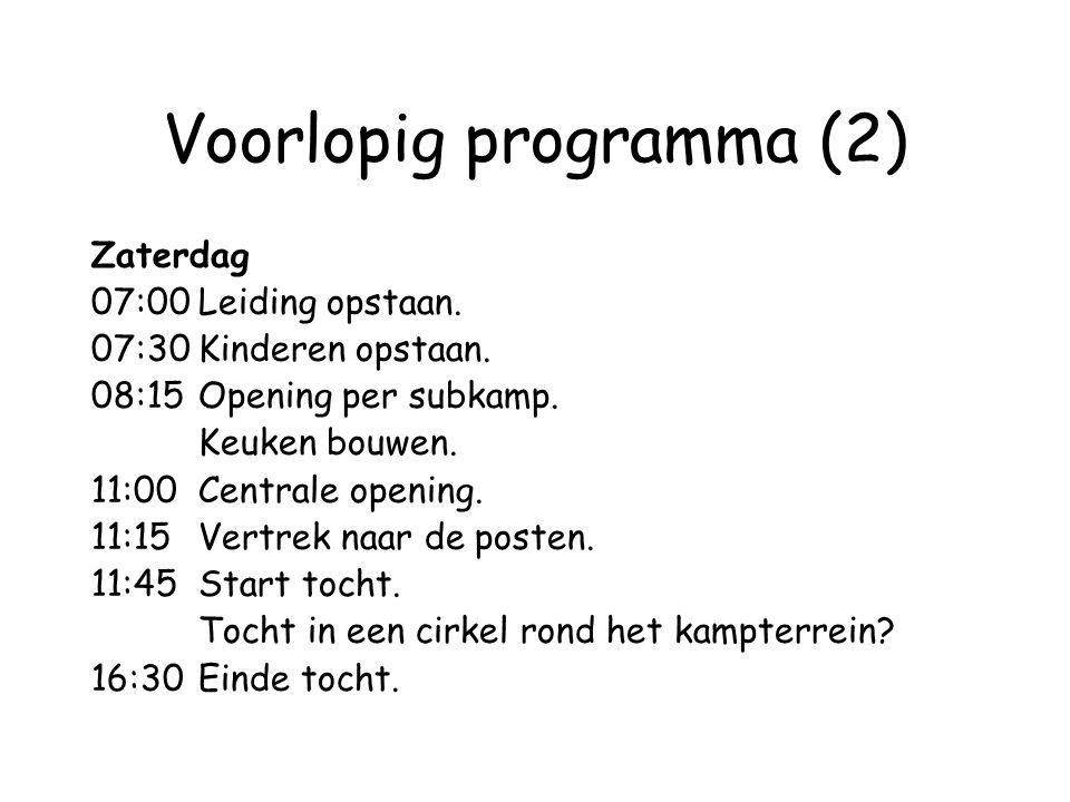 Voorlopig programma (2)