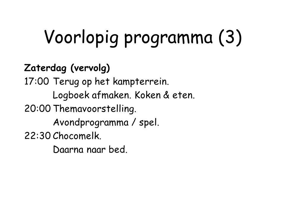 Voorlopig programma (3)