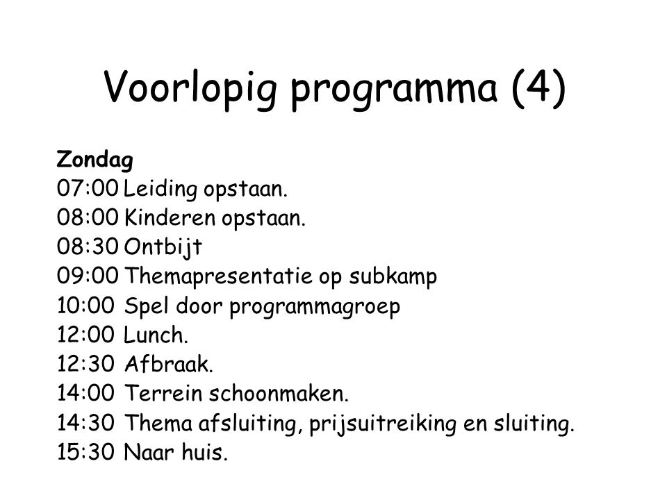 Voorlopig programma (4)
