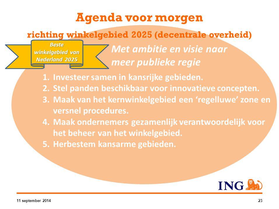 Agenda voor morgen richting winkelgebied 2025 (decentrale overheid)