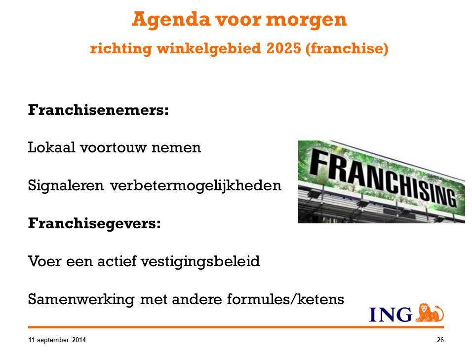 Agenda voor morgen richting winkelgebied 2025 (franchise)