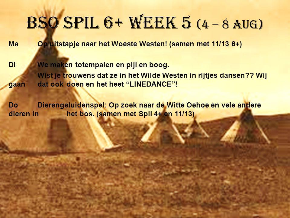 BSO Spil 6+ week 5 (4 – 8 aug)