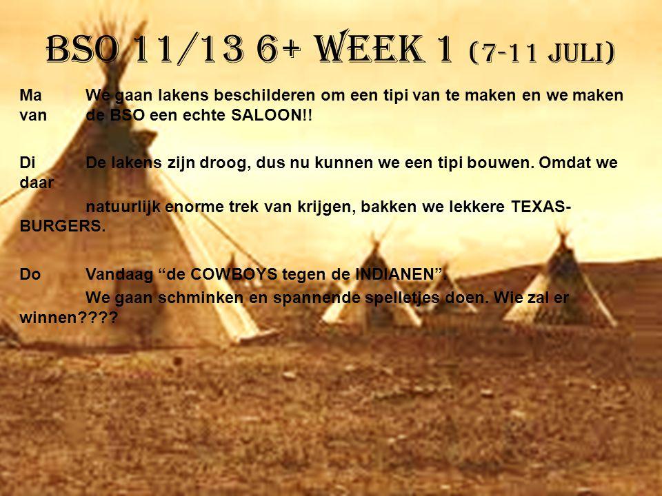 BSO 11/13 6+ week 1 (7-11 juli)