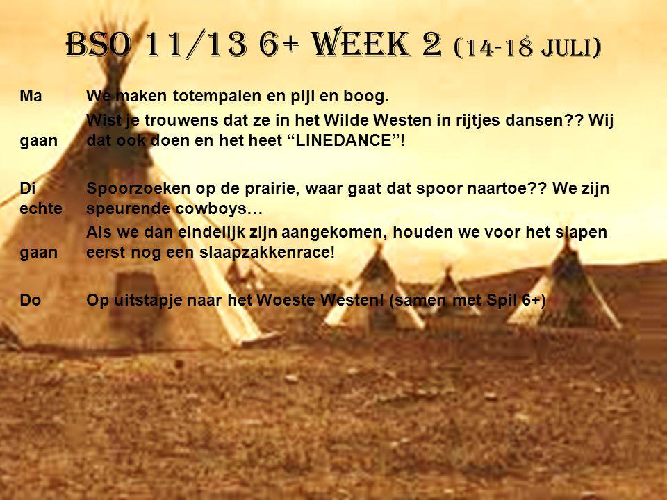 BSO 11/13 6+ week 2 (14-18 juli)