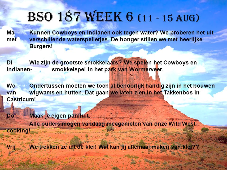 BSO 187 week 6 (11 - 15 aug)