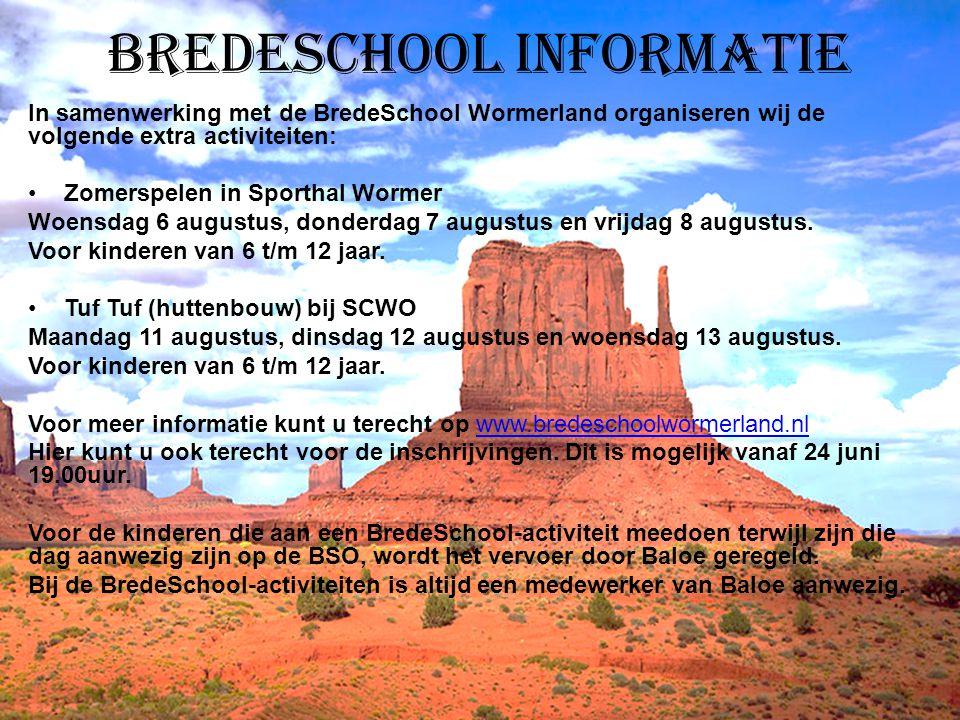 Bredeschool informatie