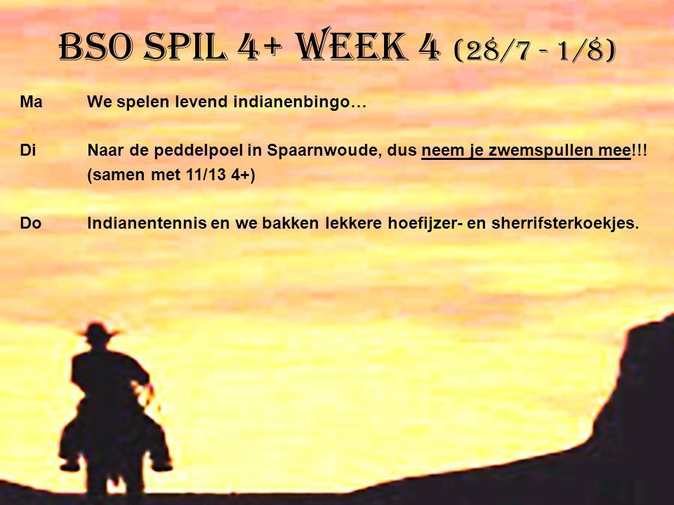 BSO Spil 4+ week 4 (28/7 - 1/8)